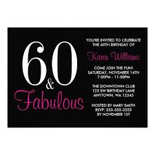 15 best 60th birthday party invitations and ideas pink and black
