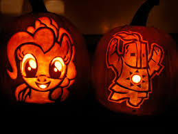 Puking Pumpkin Carving Stencils by Pinkie Pie And Solaire Of Astora 2013 Scary Halloween Stuff