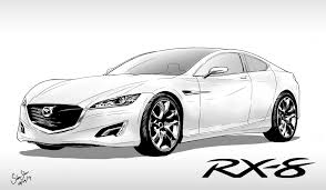 rx8 car doodle mazda rx8 simpleline