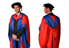 doctoral gowns sussex phd graduation robe and silly hat real list