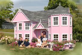 charming wooden outdoor playhouses home design garden