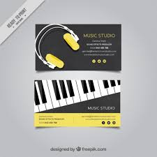 Business Card Music Elegant Business Card For A Music Studio Vector Free Download