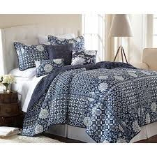 Pacific Coast Duvet Cover Zion Blue Six Piece Reversible Queen Quilt Set Pacific Coast