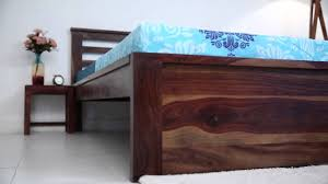 Latest Double Bed Designs In Kirti Nagar Bed Online Harden Bed Without Storage Online Wooden Street