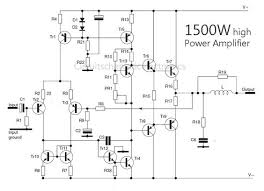 1500 watt high power lifier circuit diagram lifier