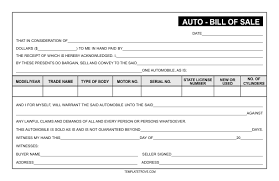 bill of sale template car sle blank bill of sale