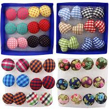 plastic stud earrings aliexpress buy 6 pairs vintage jewelry colorful cloth