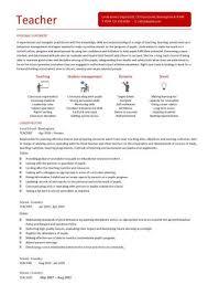 Resume Ideas For Teachers Teachers Cv Template