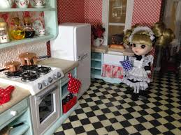 once upon doll collection shabby chic kitchen dollhouse part little pullip stica ready work maid this kitchen