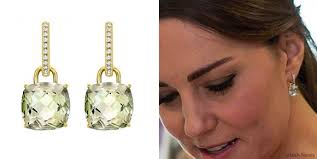 kate middleton diamond earrings mcdonough classic cushion drop earrings kate middleton