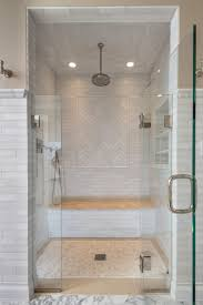 the master bathroom for her features a beautiful walk in shower