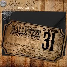 vintage halloween invitation ticket old halloween party invitation