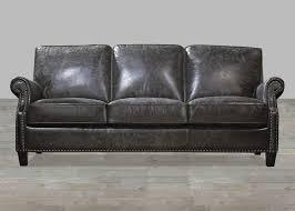 charcoal top grain vintage leather sofa