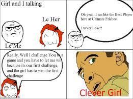 Rage Girl Meme - ragegenerator rage comic clever girl