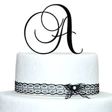 acrylic cake toppers custom 5 inch monogram acrylic cake topper in any