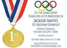 1st Birthday Invitation Card Samples Best Olympic Invitation Cards 89 For Birthday Invitation Cards