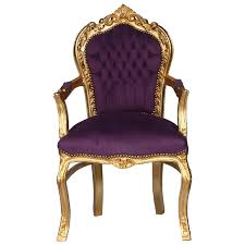 Purple Chair Uk Noble Chair In Vibrant Purple Fabric With Gold Leafed Wood Luxury