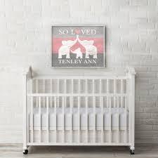Elephant Wall Decals For Nursery by Elephant Nursery Decor Custom Baby Name Wall Art Elephant