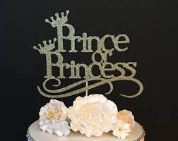 prince or princess cake topper baby shower cake topper