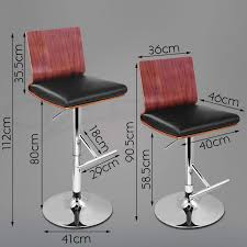 Lydia Black Leather Chrome Chairs 4x Wooden Bar Stool Timber Kitchen Dining Chair Barstool Black