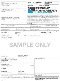 bill of lading sample resumess memberpro co