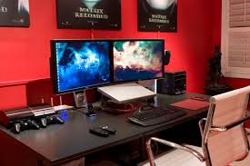Diy Pc Desk Diy Pc Desk Mods Dual Monitor Mac Desk Setup