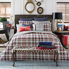 White And Red Comforter Tommy Hilfiger Plaid Comforters U0026 Bedding Sets Ebay