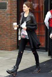 womens combat boots uk shailene woodley displays edgy side grunge inspired boots