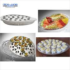 deviled egg serving plate food cold on a buffet iced eggs holds kitchen crushed container