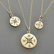 small necklace designs images Journey big med small compass charm necklaces nina designs jpg