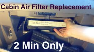 nissan altima 2013 models cabin air filter replacement nissan altima 2 minutes only