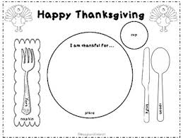 thanksgiving place setting placemat montessori ideas