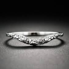 vintage filigree wedding bands vintage style floral design contoured wedding band contours