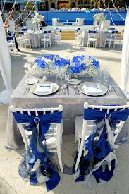 royal blue and silver wedding and groom chair decor dreams los cabos wedding blue and gray