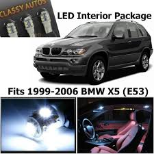 amazon com classy autos bmw x5 white led lights interior package