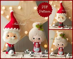 santa and mrs santa tree ornaments pdf pattern