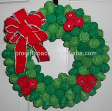 Decorated Artificial Christmas Wreaths For Sale 2017 new sale cheap wholesale handmade door gift ornament felt