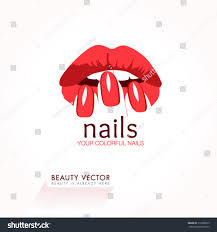 womans lips nails silhouette illustration vector stock vector