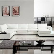 furniture elegant white sectional sofa in cozy living room this