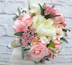 silk wedding bouquet wedding bouquet pink peony bridal