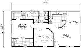 2 bedroom cottage floor plans house on the trailer home 24 x 44 2 bed 2 bath 1026