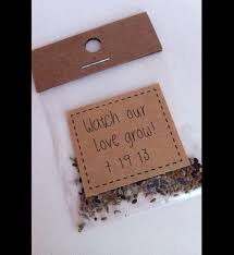 or give each guest a packet of seeds that reflect your wedding