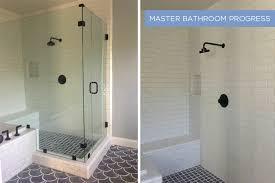 modern old world master bathroom emily henderson
