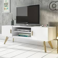 Tv Table Mmilo Meet Tv Table Cabinet In White Matt Finish