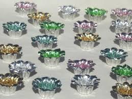 foil candy cups pastel candy colored foil nut cups new stock vintage party favors