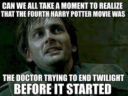 Who Meme - the doctor trying to end twilight before it started justpost