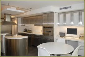 stainless kitchen cabinets