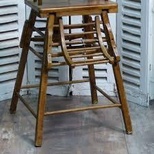 chaise vintage enfant chaise haute pour enfant en bois lignedebrocante brocante en
