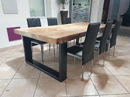 table cuisine en bois table salle a manger en bois table salle a manger bois et metal