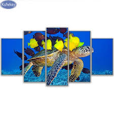 sea turtle home decor online get cheap resin fish painting aliexpress com alibaba group